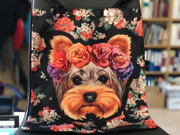 bolsa estampado floral y yorkshire