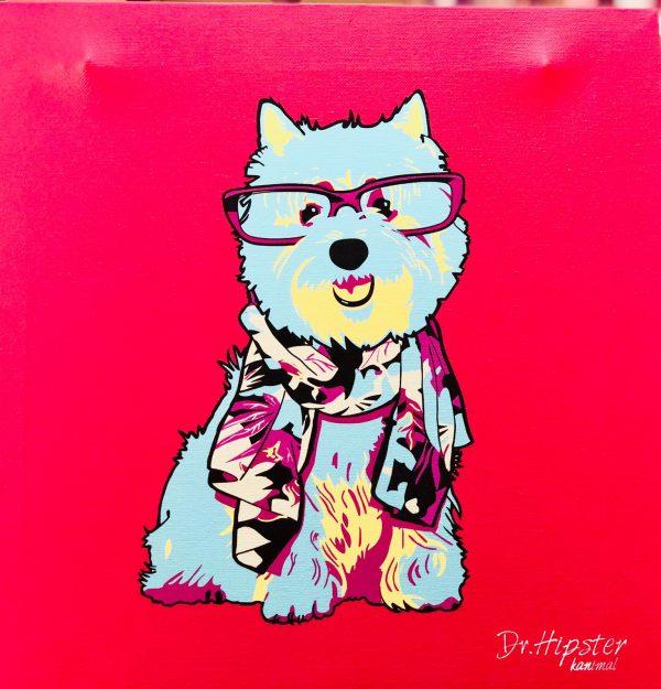 artpop perro color rojo